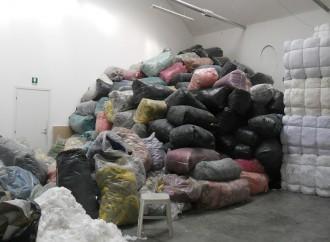 Prato, un impianto di recupero di scarti tessili illegale