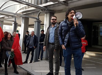 Lo sciopero del tessile arriva a Pitti