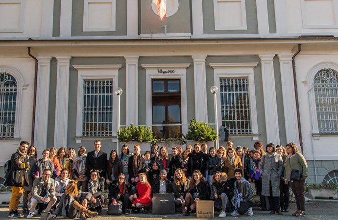 50 studenti francesi a 'lezione' da Tollegno 1900