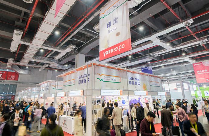 Yarn Expo, the event attracts 15% more buyers