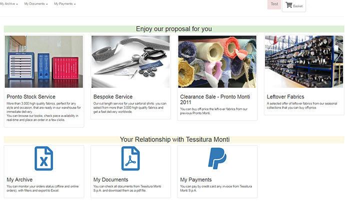 Tessitura Monti, il catalogo viaggia online