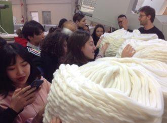 Lo IED a lezione di tessile a Biella